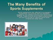 The Many Benefits of Sports Supplements