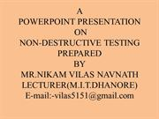 VILAS NIKAM PP ON NON DESTRUCTIVE TESTING MACHINET