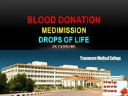Blood donationTravancore Medical College Kollam