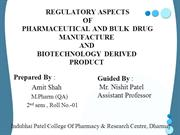 REGULATORY ASPECTS