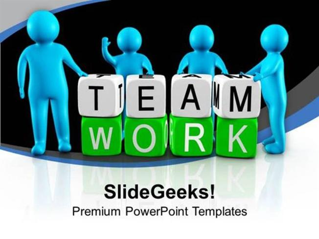 Teamwork 3d men working as team teamwork ppt template powerpoint related powerpoint templates toneelgroepblik Gallery