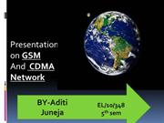 Presentation on GSM & CDMA N/W