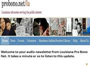 SEPTEMBER 2012 LOUISIANA PRO BONO NET NEWS
