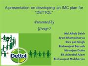 A presentation on developing an IMC plan for dettol