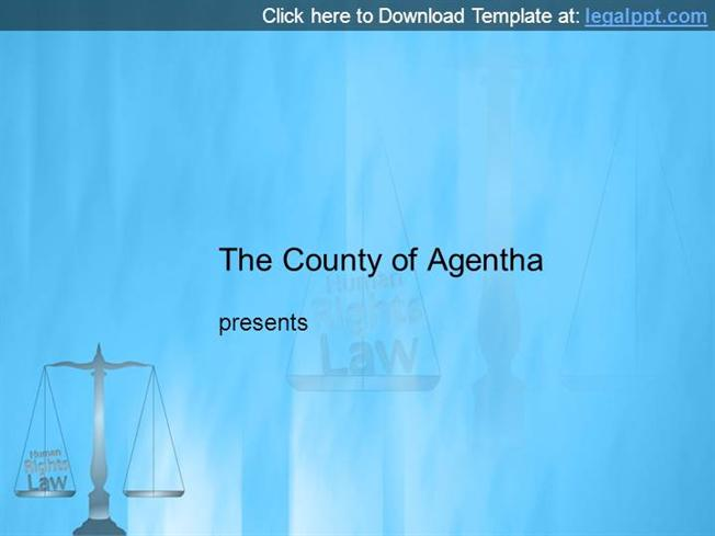 Human Rights Law Powerpoint Template |authorSTREAM