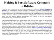 Making it Best Software Company in Odisha