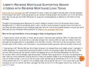 Liberty Reverse Mortgage Supporting Senior citizens with Reverse Mortg