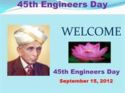 45th Engineers Day , 15 sep. 2012