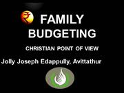 FAMILY BUDGETING CHRISTIAN POINT OF VIEW