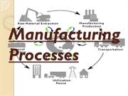 Manufacturing process I