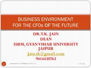 BUSINESS ENVIRONMENT ICAI BIKANER 10 AUGUST 2012
