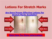 Lotions For Stretch Marks