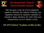 QuickTrick™ Classic Caster Camber Video