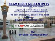 INNOCENCE OF MUSLIMS i-e; EVIL PLOT AGAINST ISLAM,,Dr. Sajid Mumtaz So