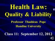 Pope, Health Quality & Liability (informed consent 1)