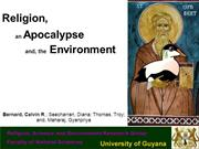 Religion, an Apocalypse and the Environment