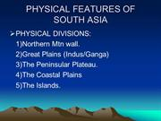 physiography South Asia