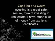 Invest in Tax Lien and Deeds