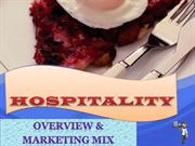Hospitality - Overview and 7P's MarketingMix