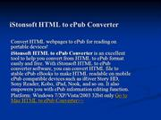 Convert HTML to ePub for Reading on Portable Devices - HTML to ePub Co