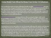 Cerna Home Care About In Home Care Irvine CA Solutions