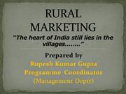 RURAL MARKETING (PPT)