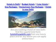 hotel of new delhi packages here