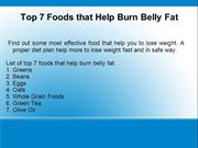 7 food that help to lose weight