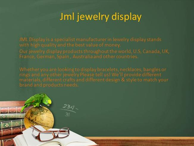 Jml Jewelry Display |authorSTREAM