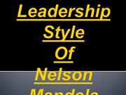 Leadership Style Of Nelson Mandela