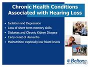 The Relationship Between Hearing Loss and Other Chronic Diseases