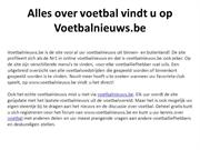 Alles over voetbal