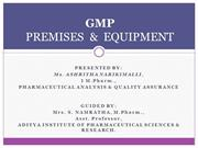 GMP premises & equipment