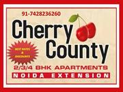 Cherry County, Noida extention 2/3/4 BHK Flats 91-7428236260