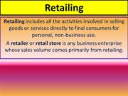 Retail Marketing and CRM  Unit-1