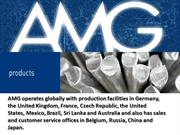 AMG Advanced Metallurgical Group N.V. - Products - Products Overview