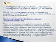 Android Application Development, Android App Development, Android Appl