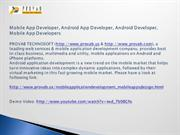 Mobile App Developer, Android App Developer, Android Developer, Mobile
