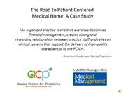 The Road to PCMH - ACP