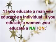 Education Of The Girl Child