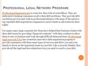 Professional Legal Network Programs