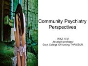 Community Psychiatry –