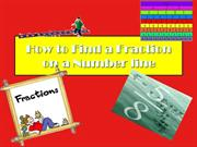 How to Find a Fraction on a Numberline ppt