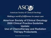 Chemo_Radio Protectants Update 2008 PPT 11.12.08