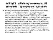 Will QE 3 really bring any sense to US economy? | By  Reymount