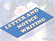 Notice and Letter