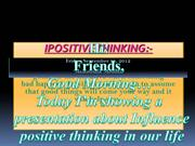 POSITIVE THINKING IN OUR LIVE
