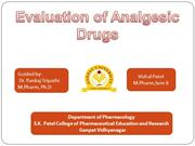 15screening model of analgesic