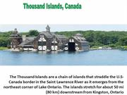 Visiting Thousand Islands Canada