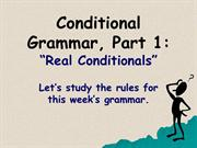 conditional grammar 1